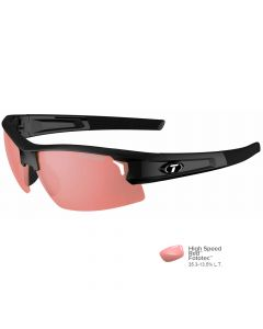 Tifosi Synapse Gloss Black Sunglasses - High Speed Red