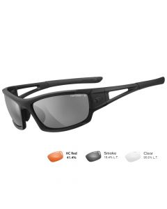 Tifosi Z87.1 Dolomite 2.0 Tactical Safety Sunglasses - Smoke/HC Red/Clear