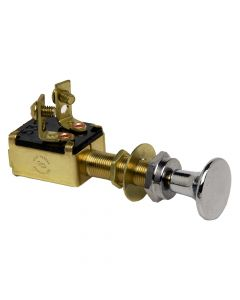 Cole Hersee Off-On Push Pull Switch With Chrome Plated Knob