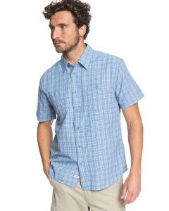 Quiksilver Men's Waterman Wake Plaid Technical Short Sleeve Shirt