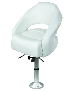 1217 Open Back Bolster Bucket Seat with Mainstay Pedestal - Wise Seats