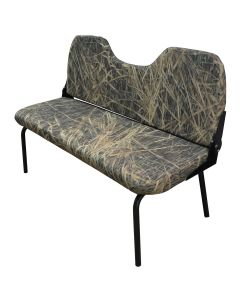 """43"""" Commander 1 Boat Bench Seat, Camouflage & Sand -Wise Seats"""