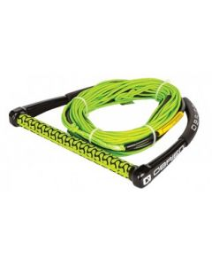 O'Brien Prop Handle w/Thin Line (Grn/Blk) Wakeboard Ropes