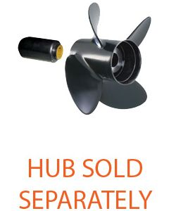 "Solas RUBEX 4  14.50"" x 17"" pitch Standard Rotation 4 Blade Aluminum Boat Propeller"