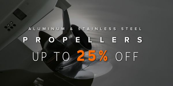 Aluminum & Stainless Steel Propellers Up to 25% Off