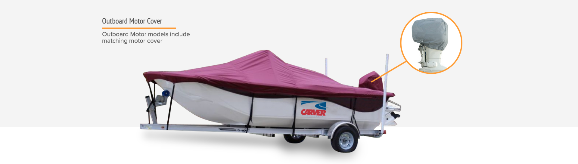 Carver boat cover motor cover