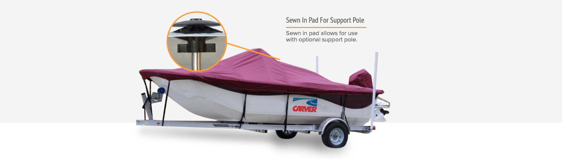 Carver boat cover support pole pad