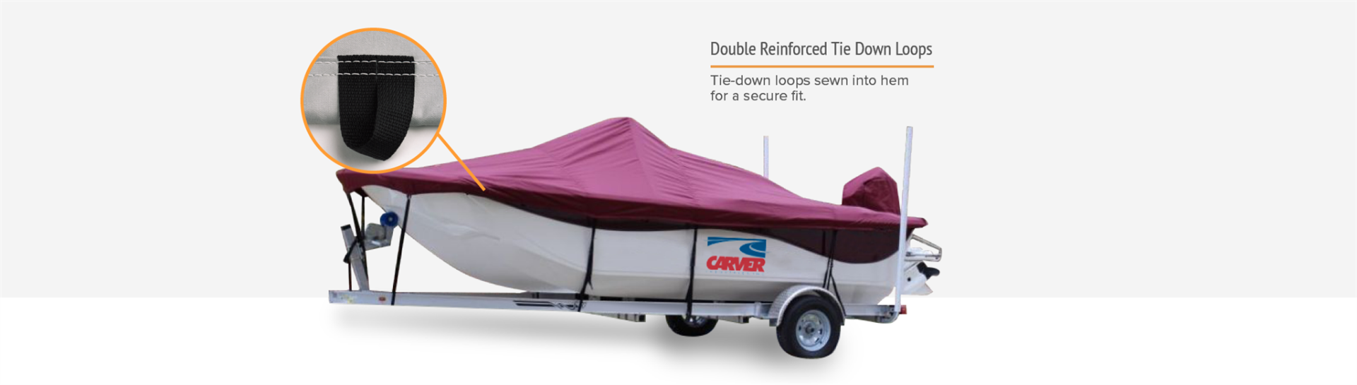 Carver boat cover tie downs