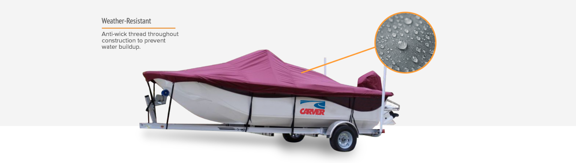 Carver boat cover weather resistant