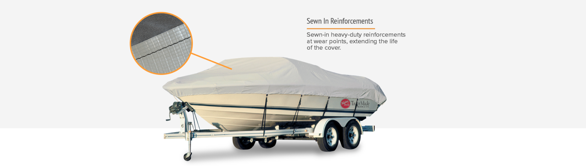 Taylor boat cover reinforcements