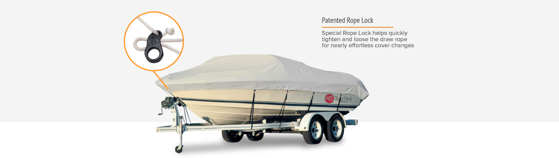 Taylor boat cover rope lock