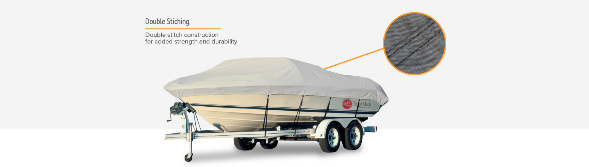 Taylor boat cover double stitching