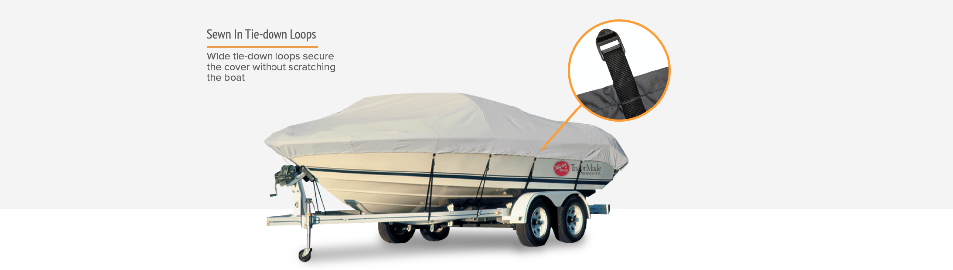 Taylor boat cover tie down loops